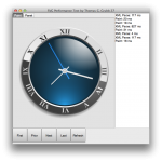 Display of the SVG Clock using FMX TCanvas operations in the OSX test application