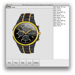 Display of the SVG Watch using FMX TCanvas operations in the OSX test application