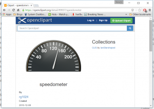 Speedometer from www.openclipart.org
