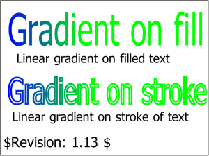Gradients on Text Fill and Stroke